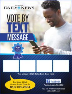 Text to Vote Flyer - Option D